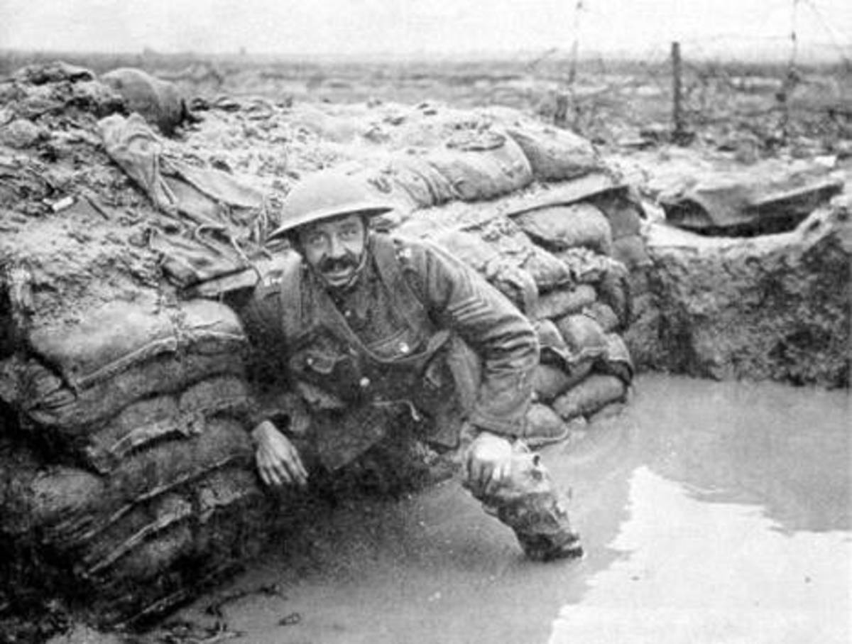 Insanitary wet Conditions soldiers lived and died in