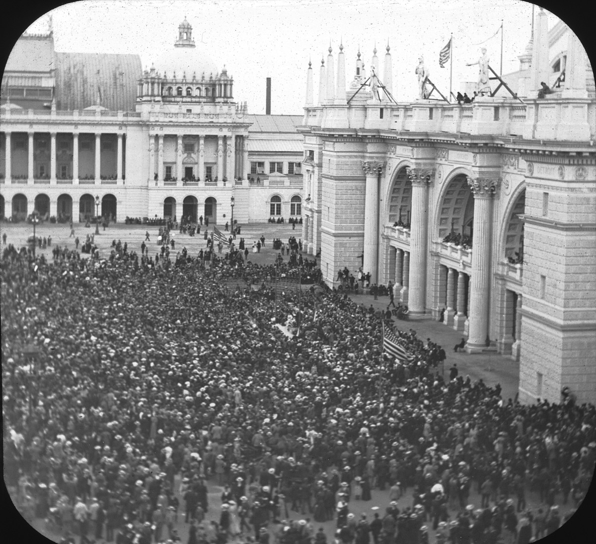 OPENING DAY CROWD, COLUMBIAN EXPOSITION