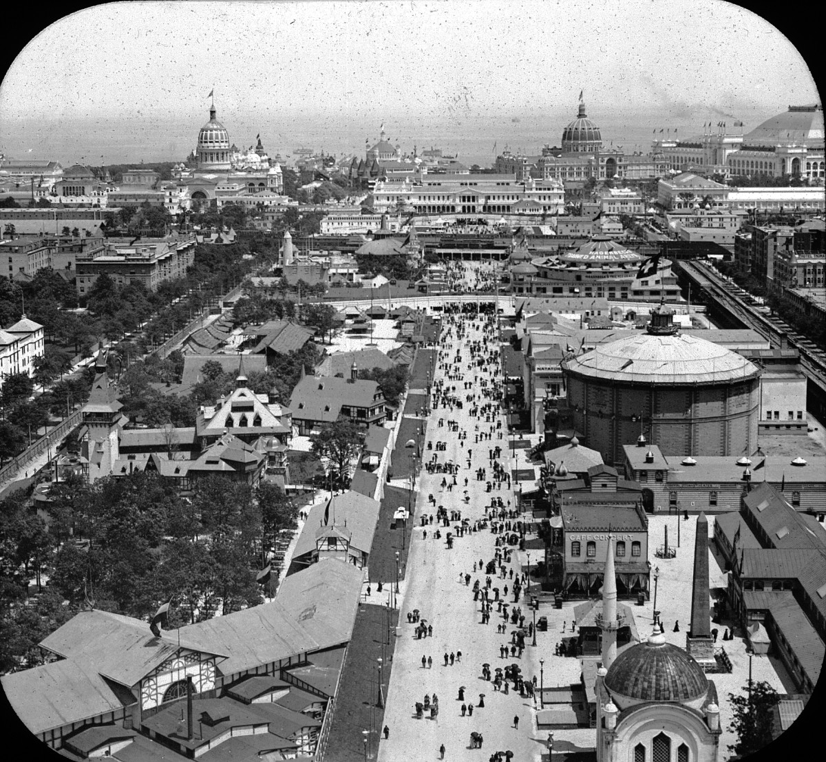 THE MIDWAY, COLUMBIAN EXPOSITION