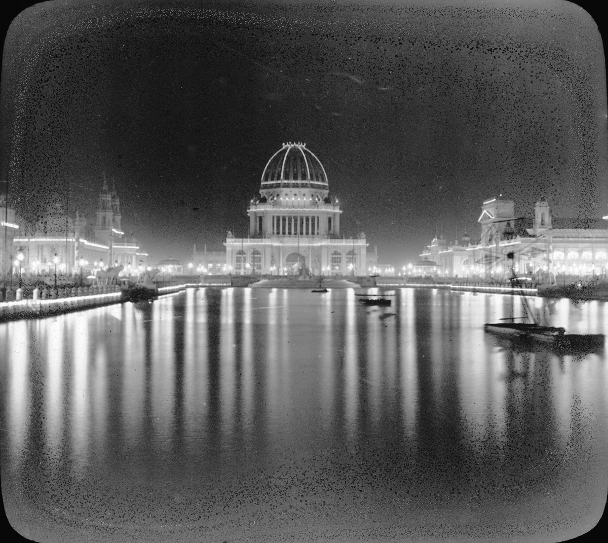 THE COLUMBIAN EXPOSITION LIT UP WITH ELECTRIC LIGHTS