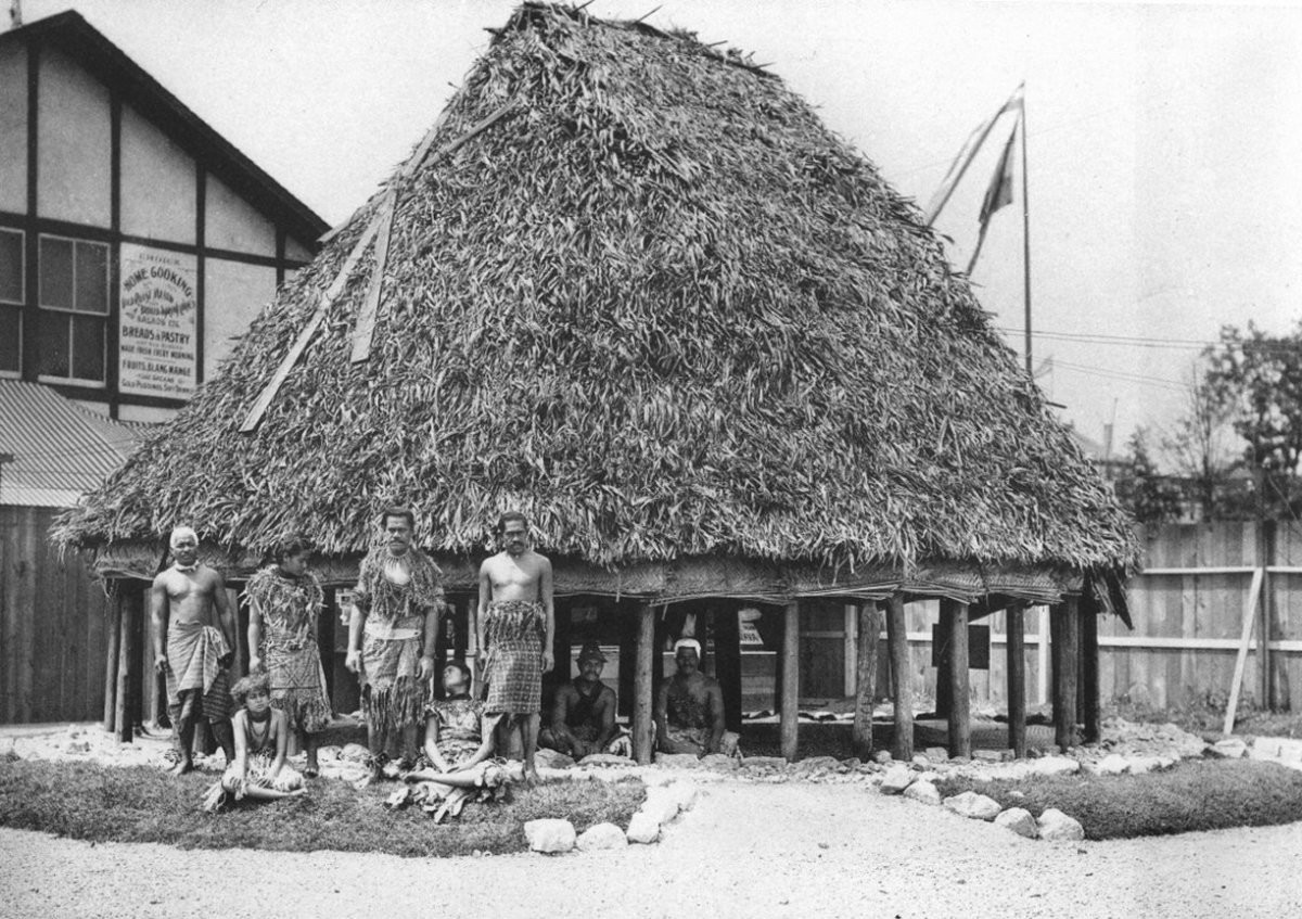SAMOAN VILLAGE, COLUMBIAN EXPOSITION