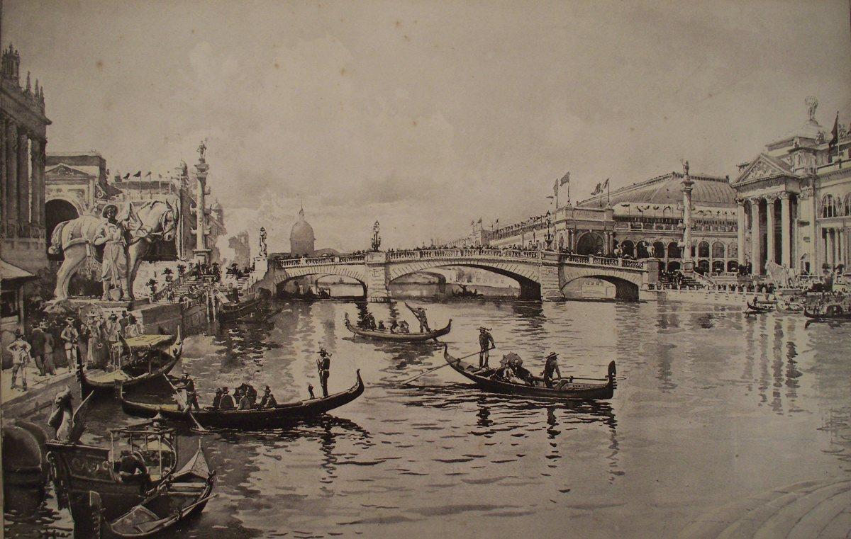 COLUMBIAN EXPOSITION: VENETIAN GONDOLAS