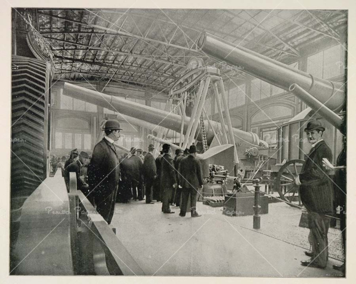 KRUPP CANNON AT GERMANY EXHIBIT, CHICAGO WORLD'S FAIR: COLUMBIAN EXHIBITION 1893