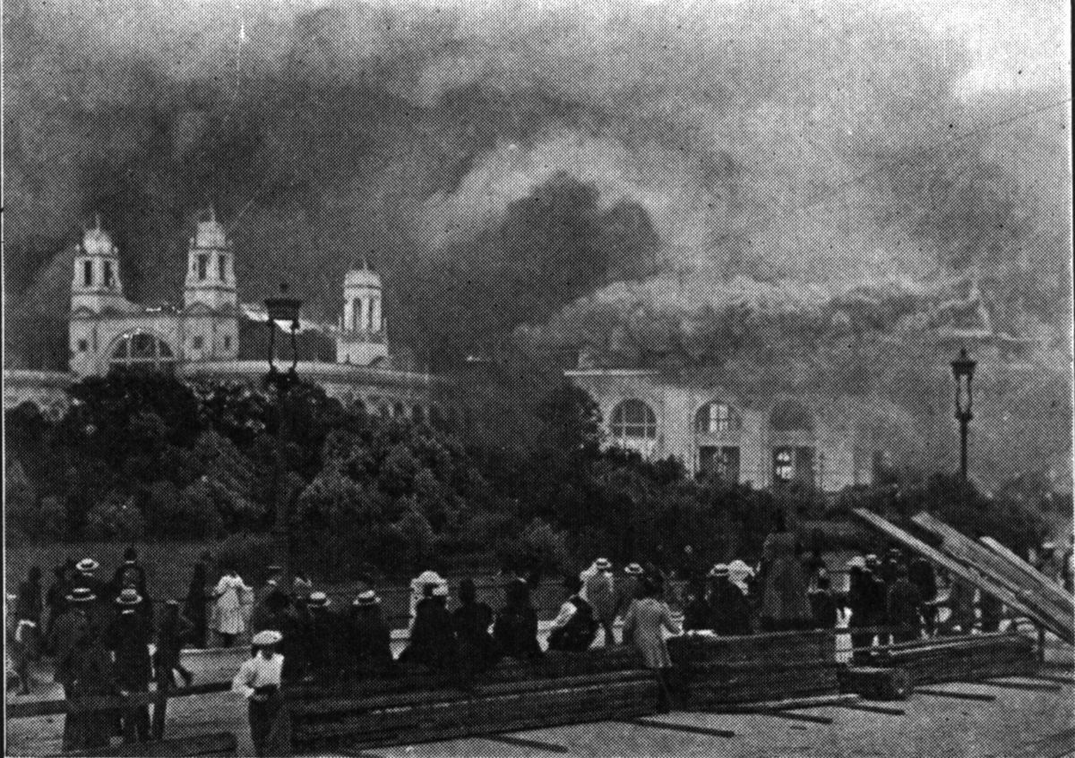 THE WHITE CITY, CHICAGO, BURNED DOWN BY UNION RUFFIANS