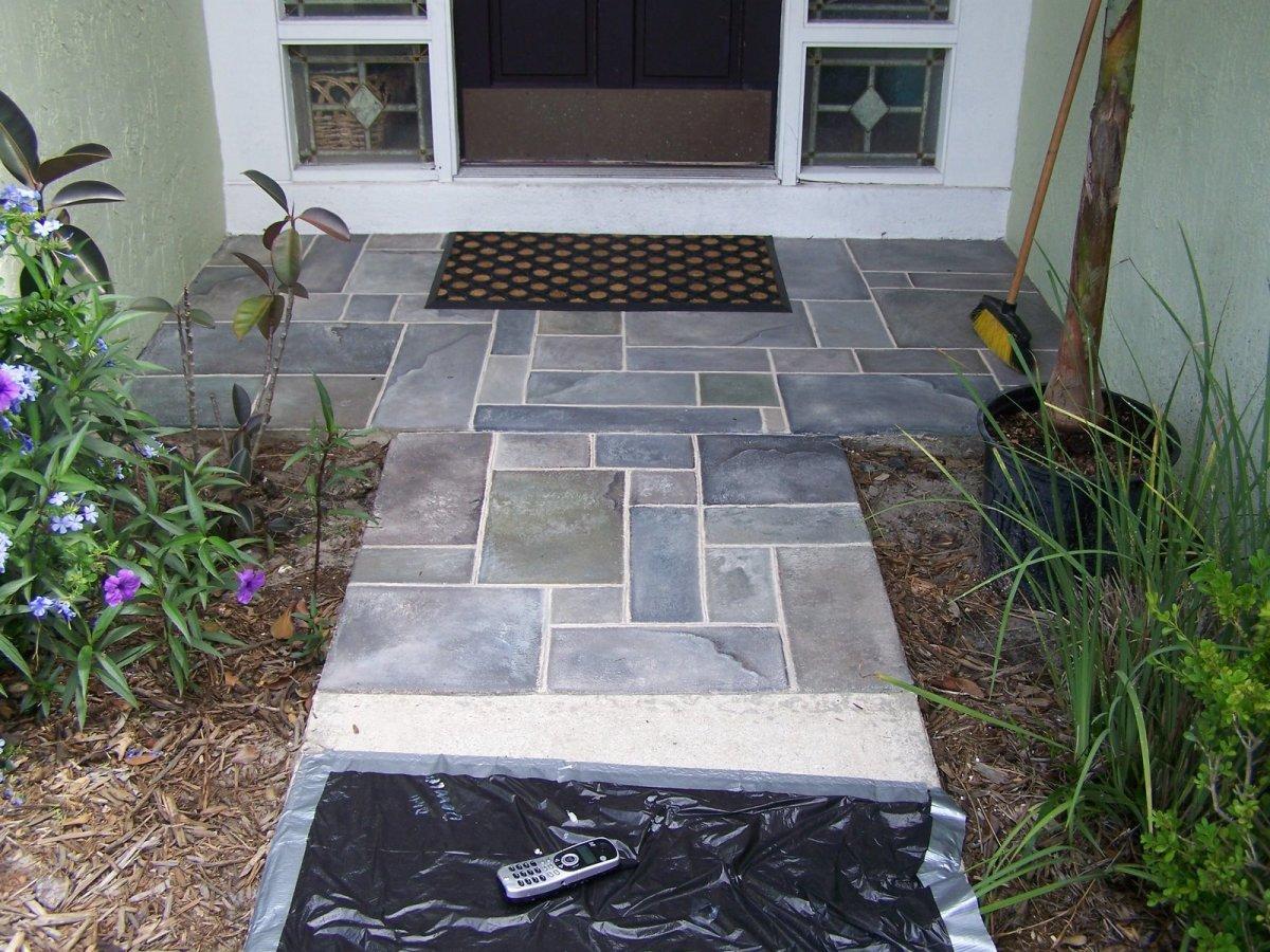 how-to-paint-a-faux-slate-walkway