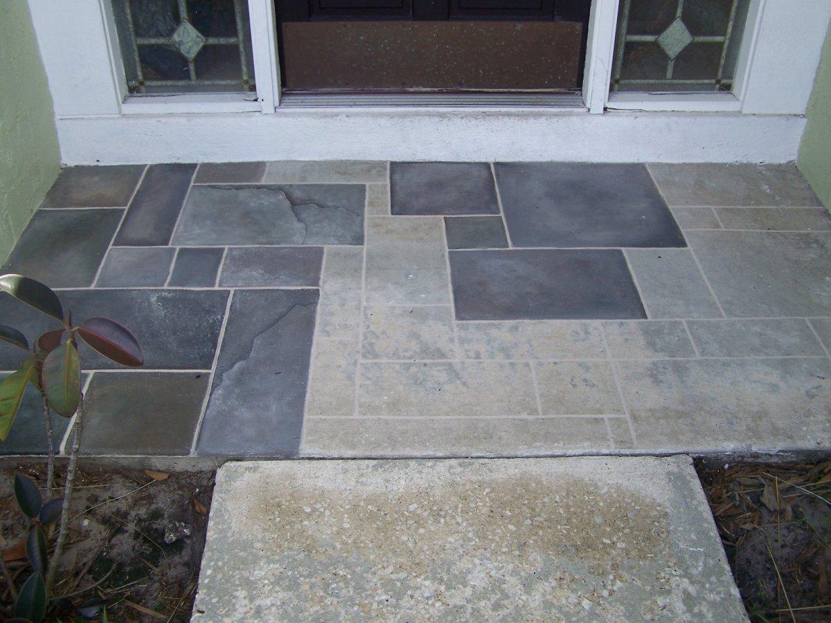 Chalk lines and random tile pattern