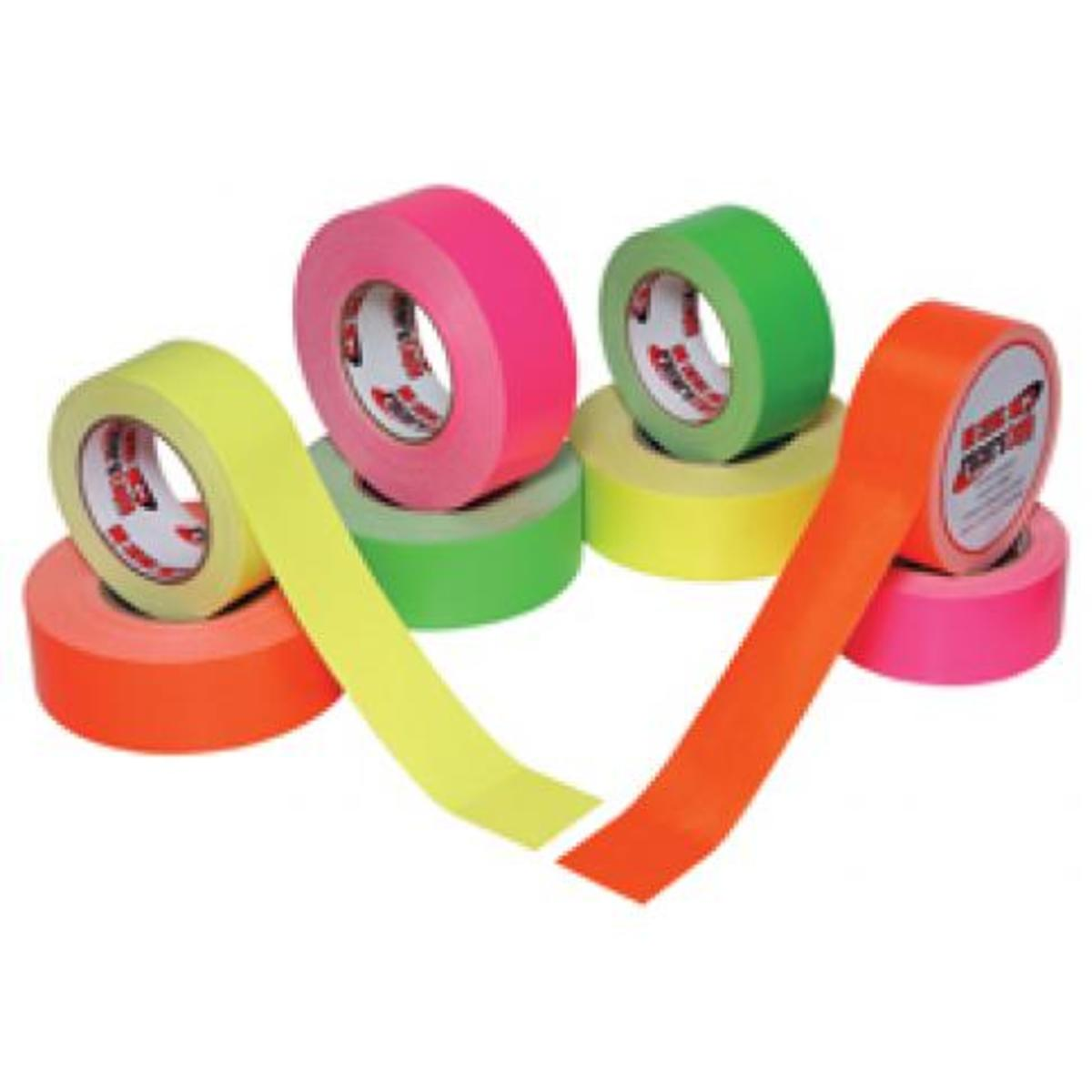 Neon Duct tape is availlable in numerous bright colors.