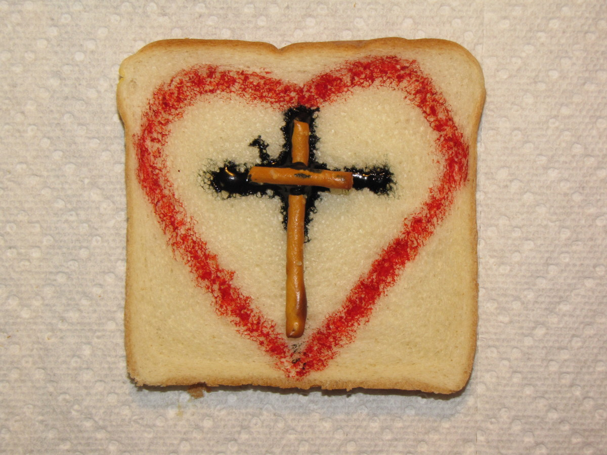 Edible color markers and pretzels create a visual reminder of Jesus' love.