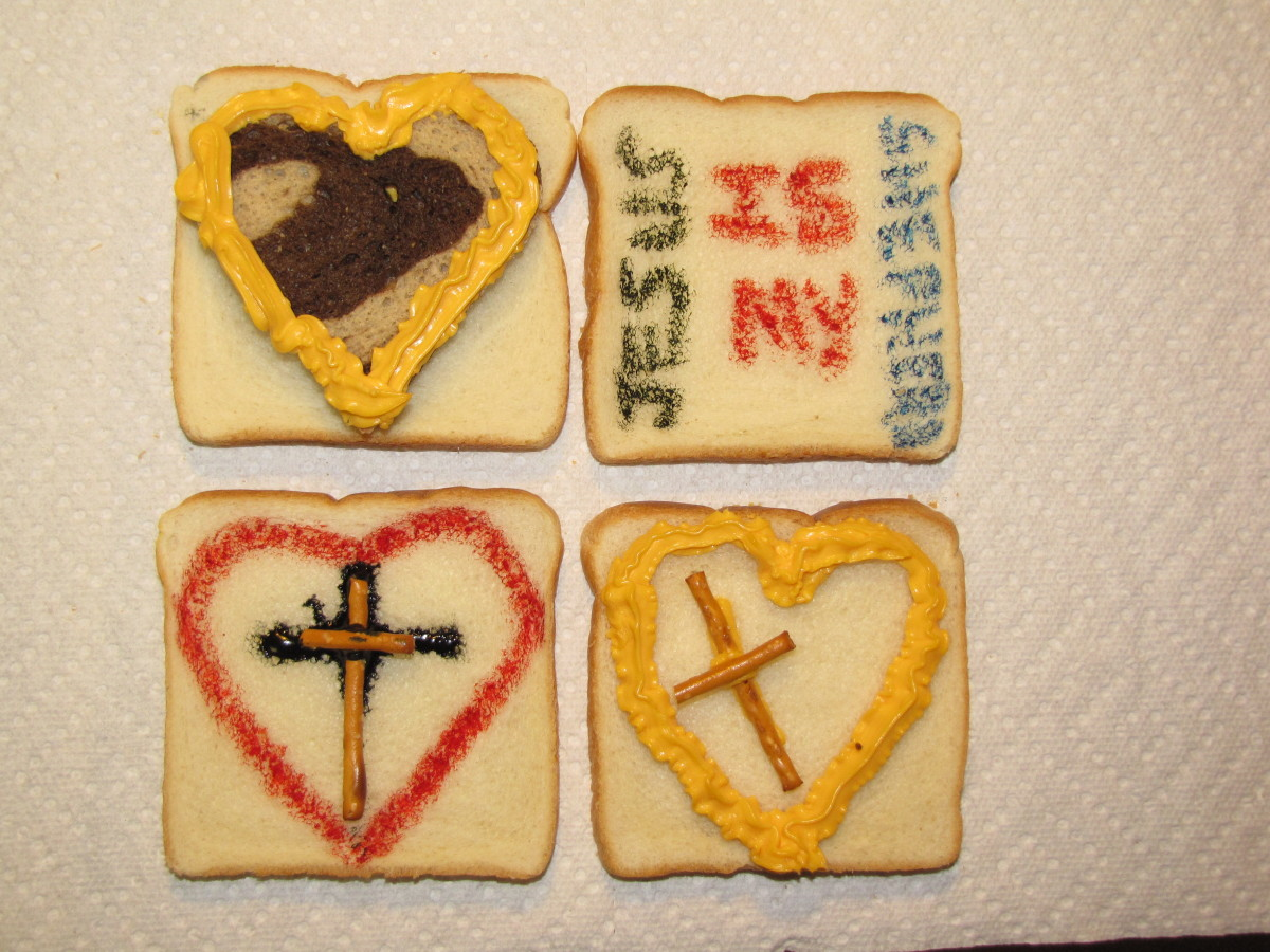 Edible arts and crafts for the parable of the lost sheep