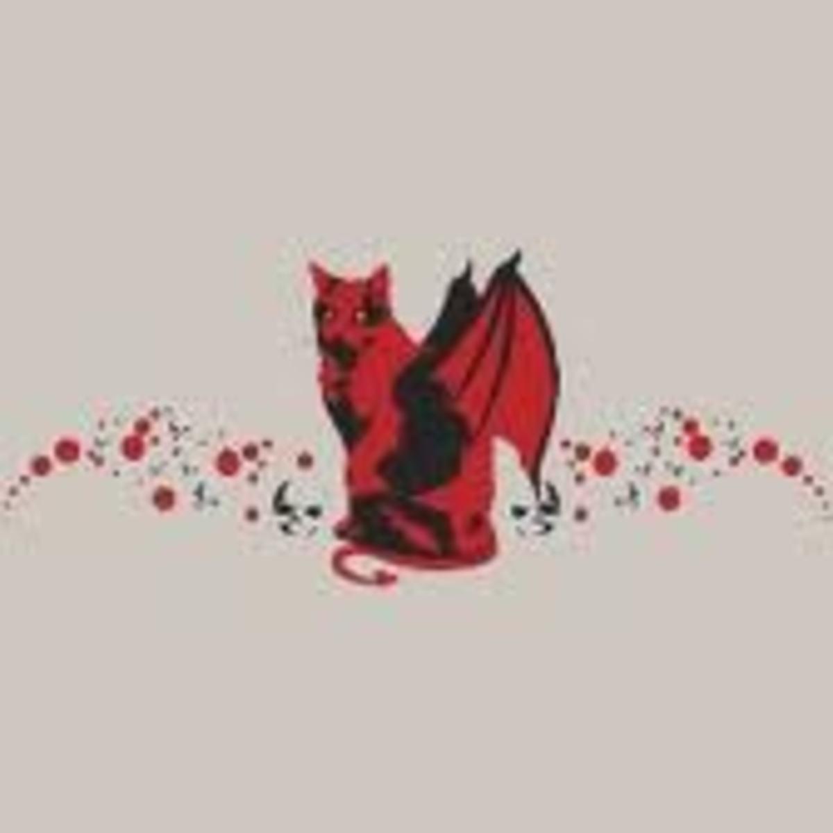 Feline winged devil