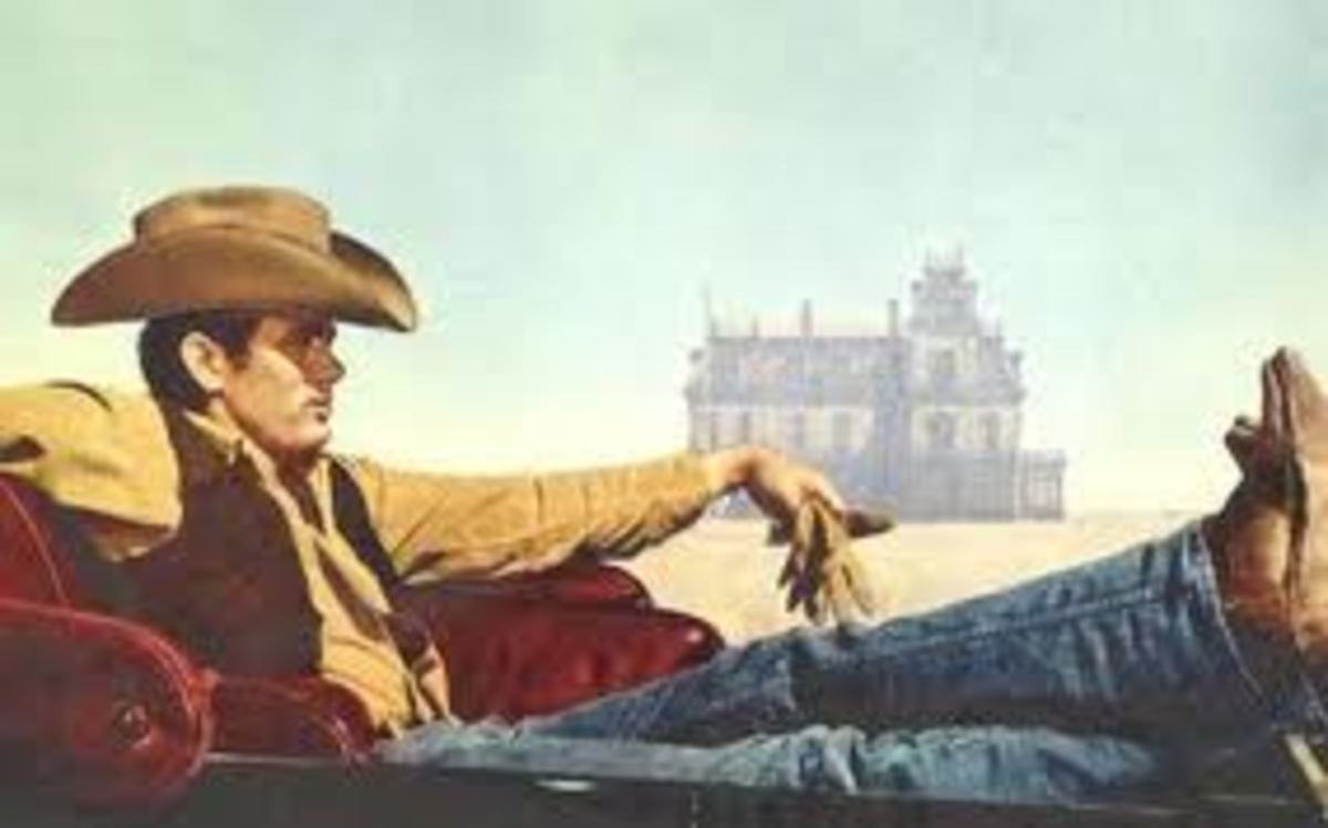 "James Dean in Levis in film, ""Giant"""