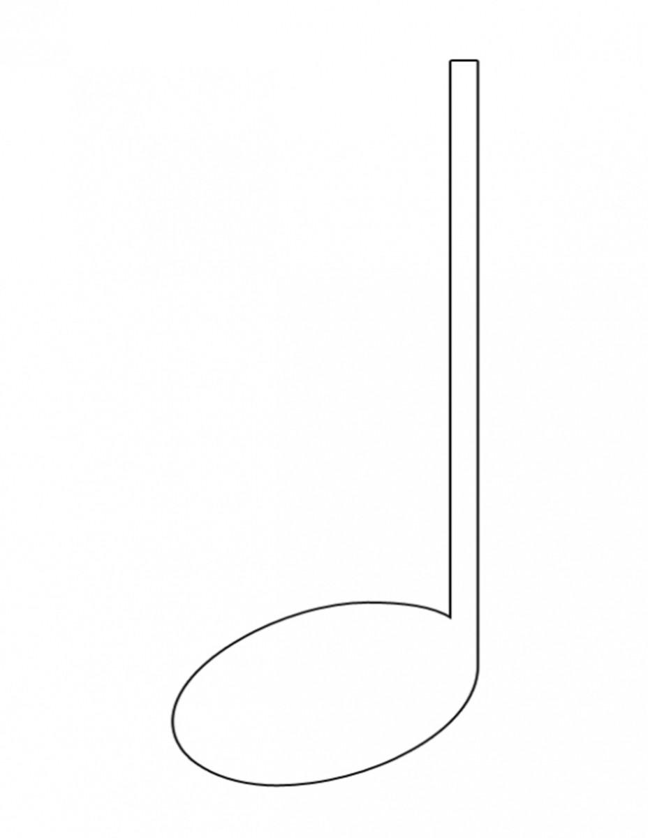 Quarter Note Clip Art Coloring Image