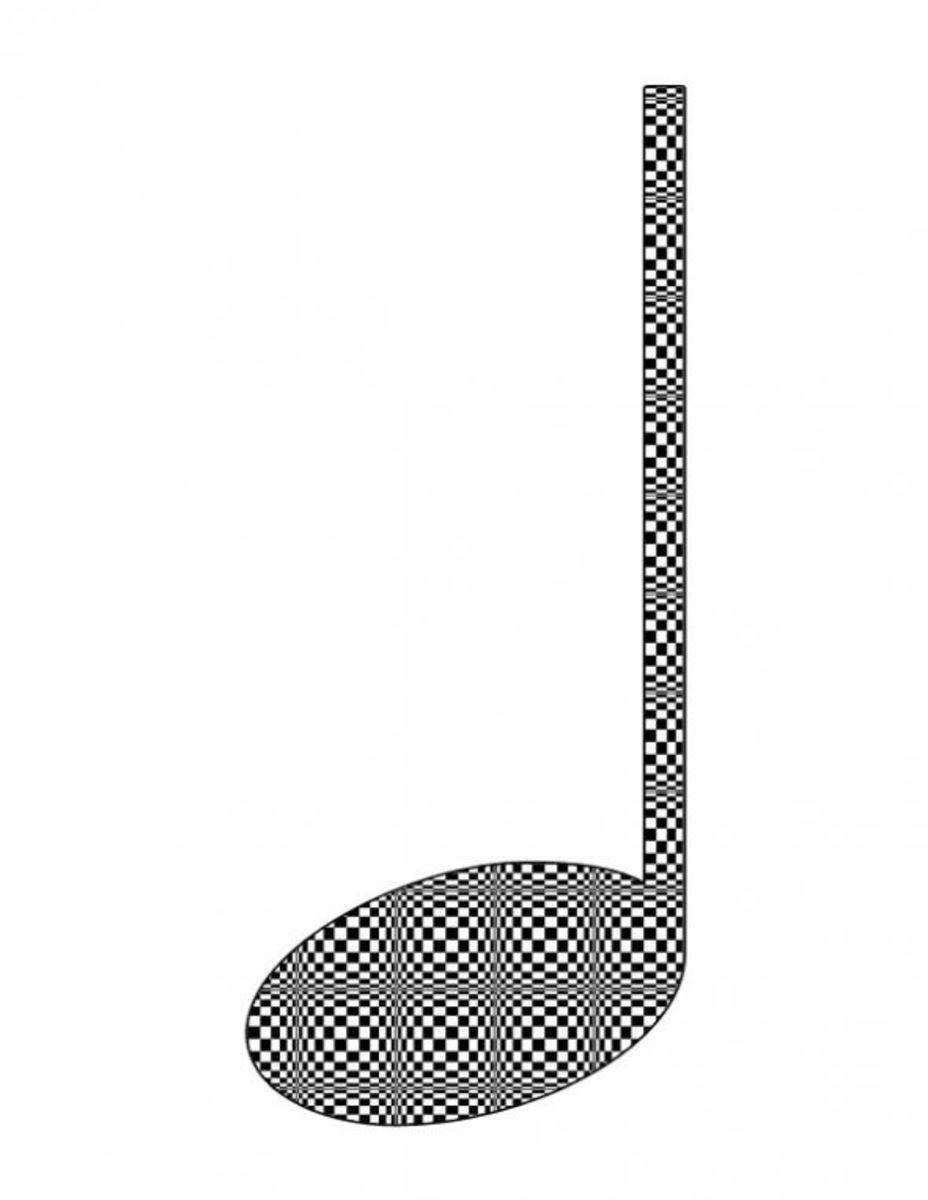 Optical Checkerboard Quarter Note
