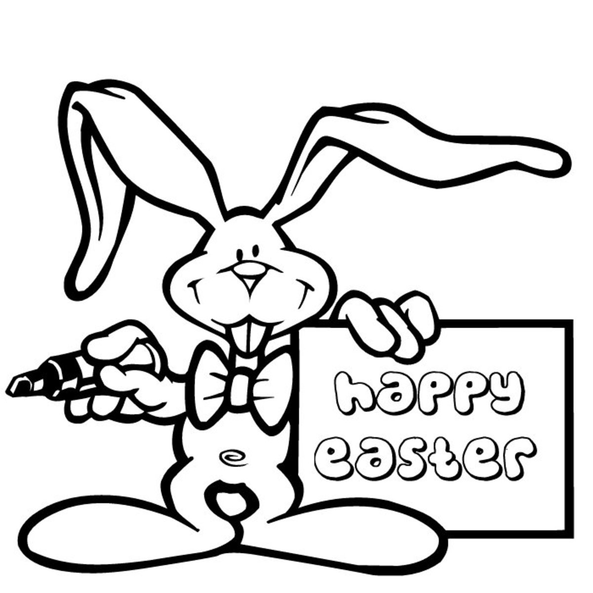 happy easter coloring pages for kids. Easter bunny coloring in