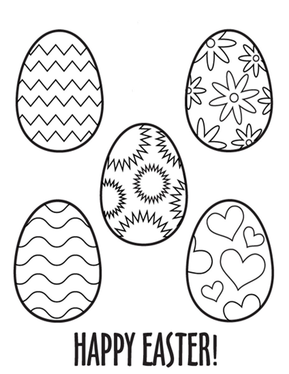 Easter eggs to design featuring different patterns