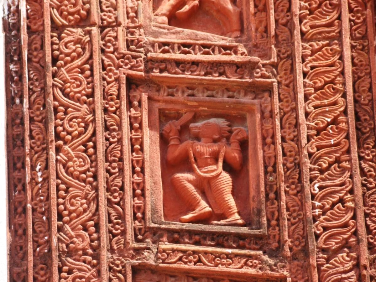 A terracotta panel