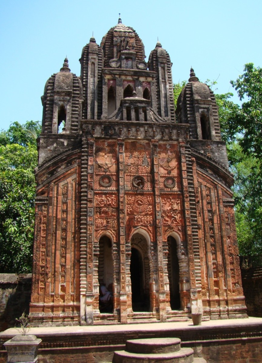 The Church like 9 pinnacled Navaratna temple of Chhota Taraf.