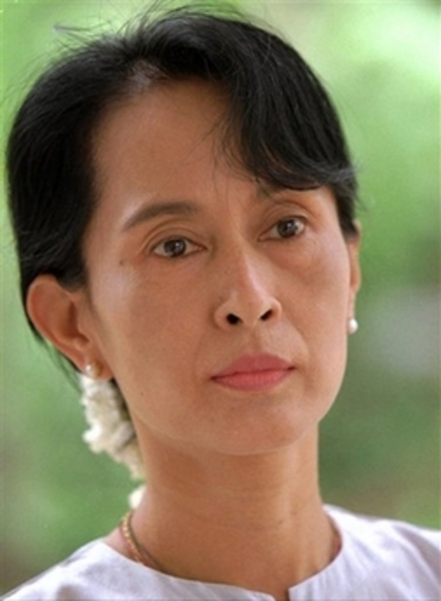 Aung San Suu Kyi has inspired many people to work peacefully to improve the world, by the power of her personal example.