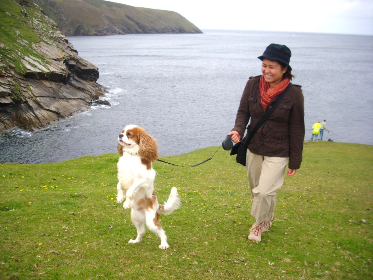 Angus with my friend Celia in Erris Head, Belmullet.