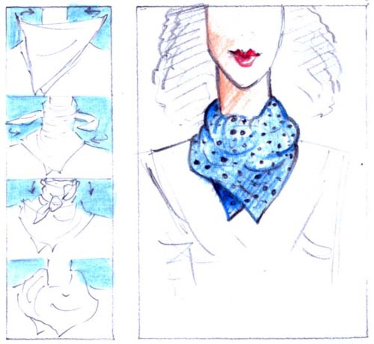 A Simple Neck Wrap from a Square Scarf