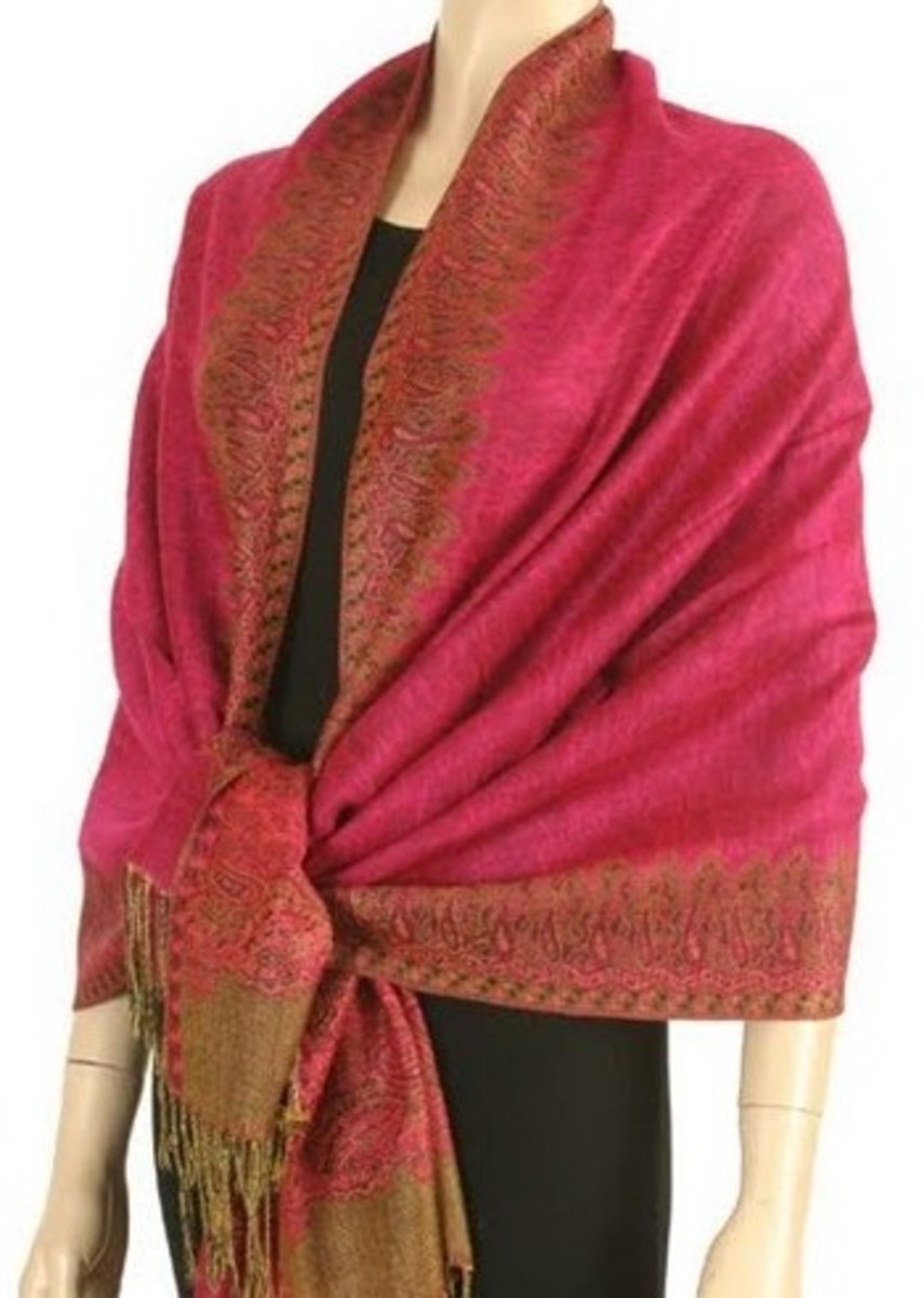 Pashminas are warm and cozy and can be used as a wrap to keep you warm.