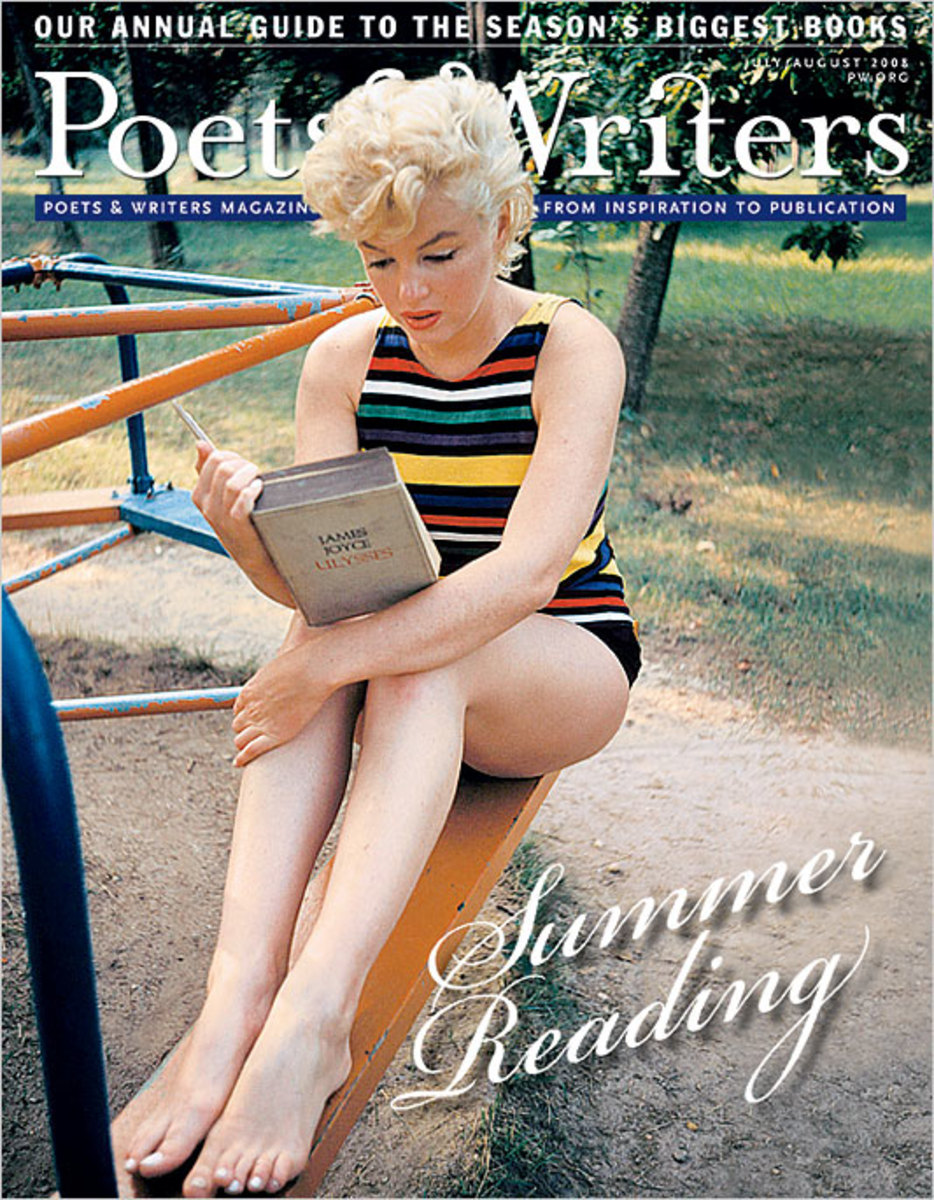 This photograph, taken by Eve Arnold, appeared on the cover of the July/Aug 2008 edition of 'Poets & Writers' Journal.