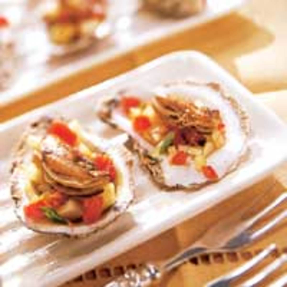 Oysters contain high amounts of iron.
