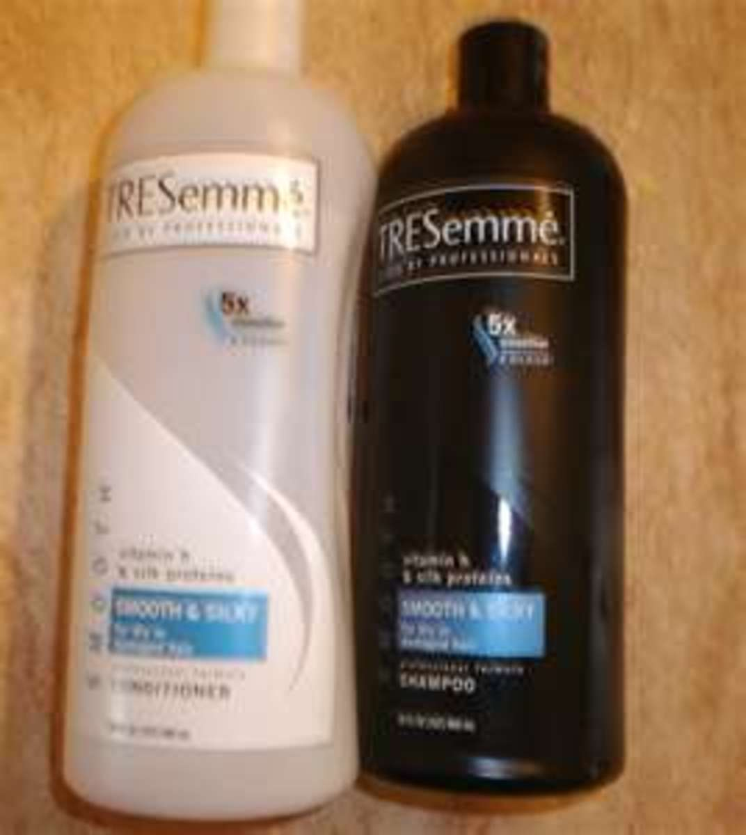 TreSemme Smooth and Silky Shampoo and Conditioner. I have tried just about every shampoo and conditioner and these two are the best for curly hair. It makes it SO soft and smooth, and makes hair stronger over time.