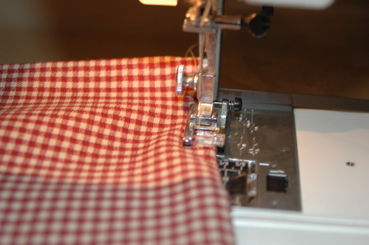 Sew your napkin all the way around