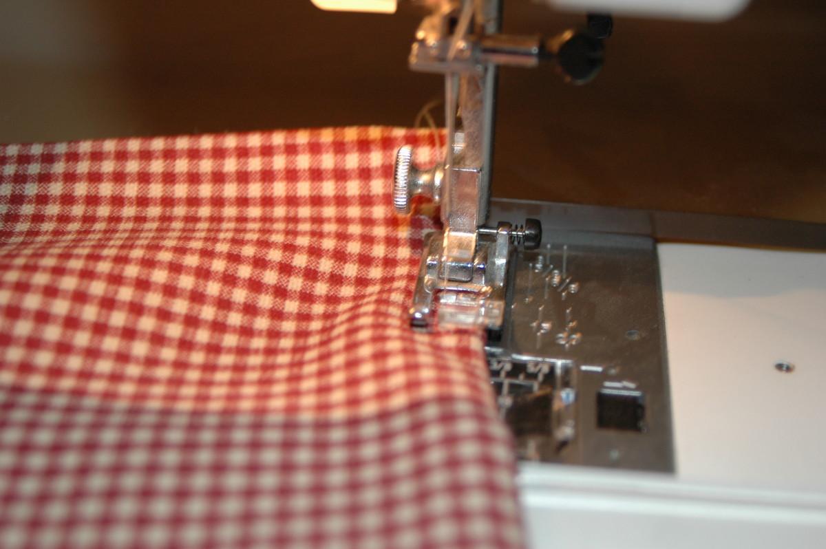 Sew your napkin all the way around