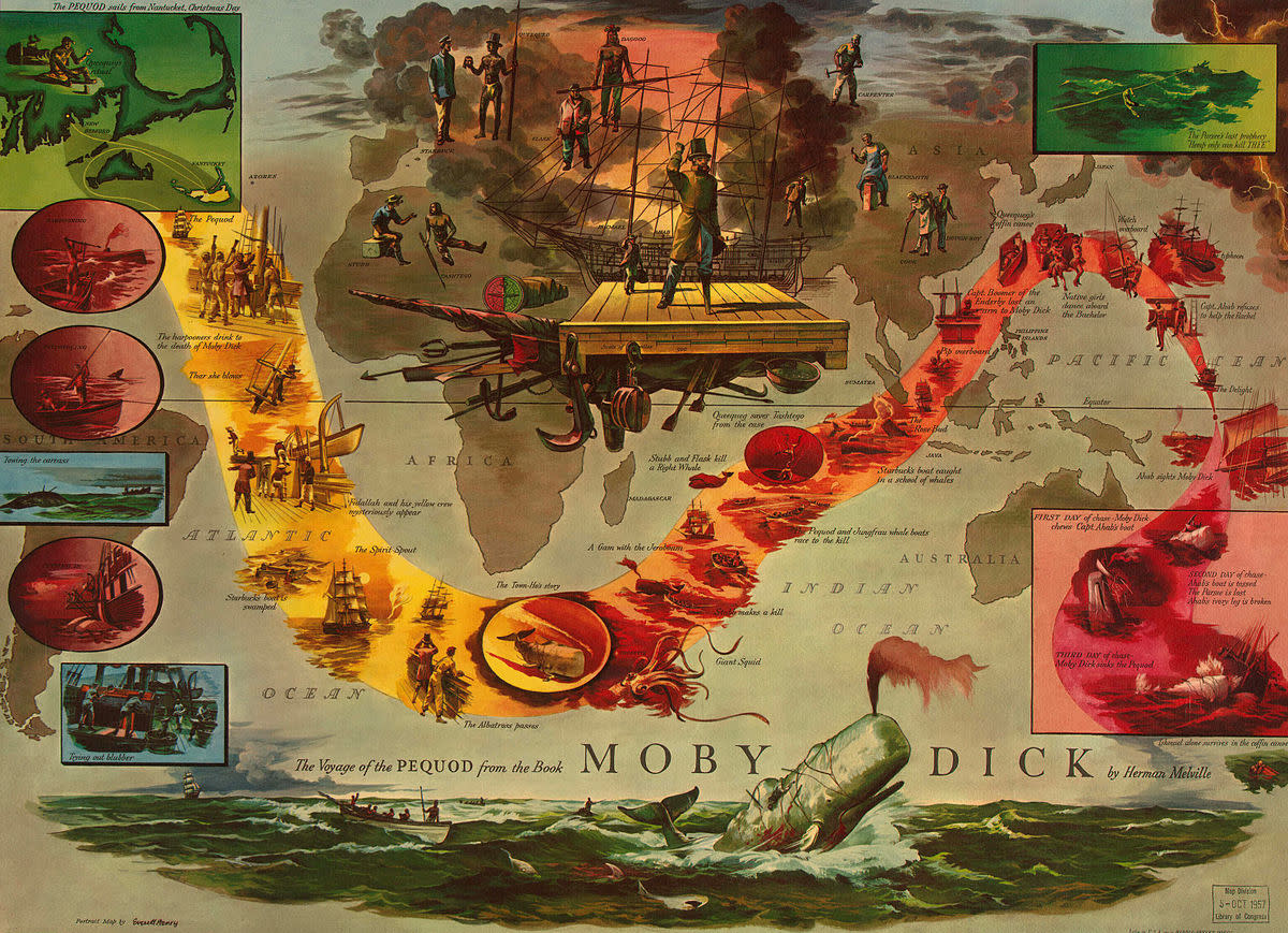 The Voyage of the Pequod from the book Moby Dick by Herman Melville.