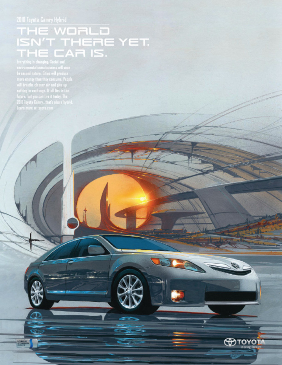 Toyota Advert - art by Syd Mead