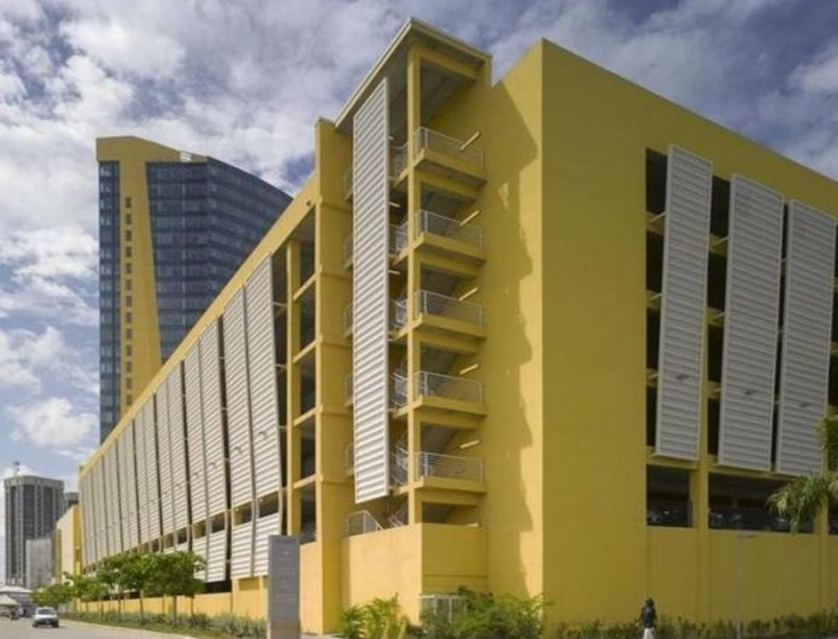 Hyatt Regency waterfront building in The city of Port of Spain Trinidad and Tobago
