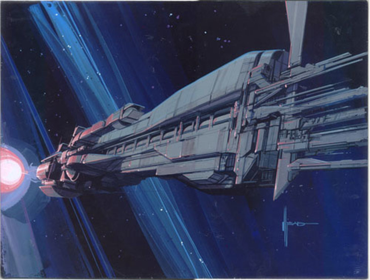 The Sulaco from the film Aliens art by Syd Mead