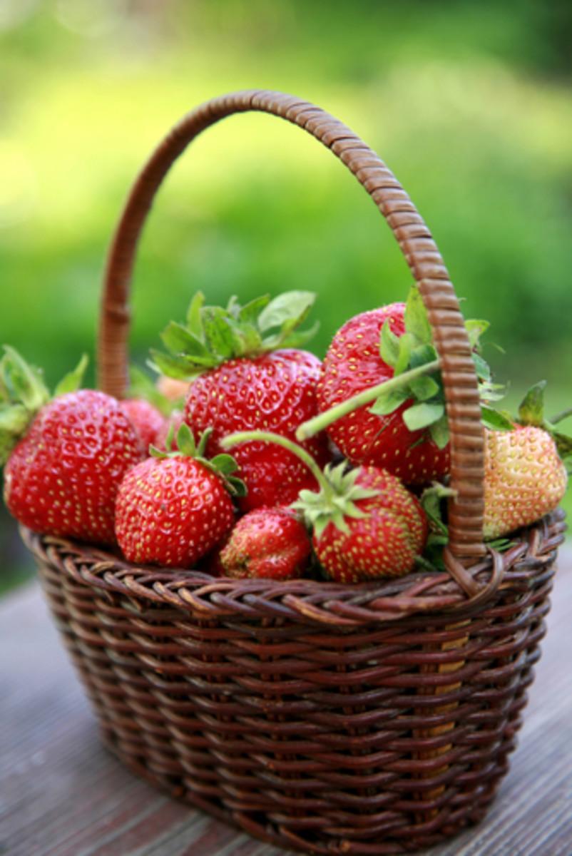 Strawberries in a basket. Image:  LeniKovaleva Shutterstock.com