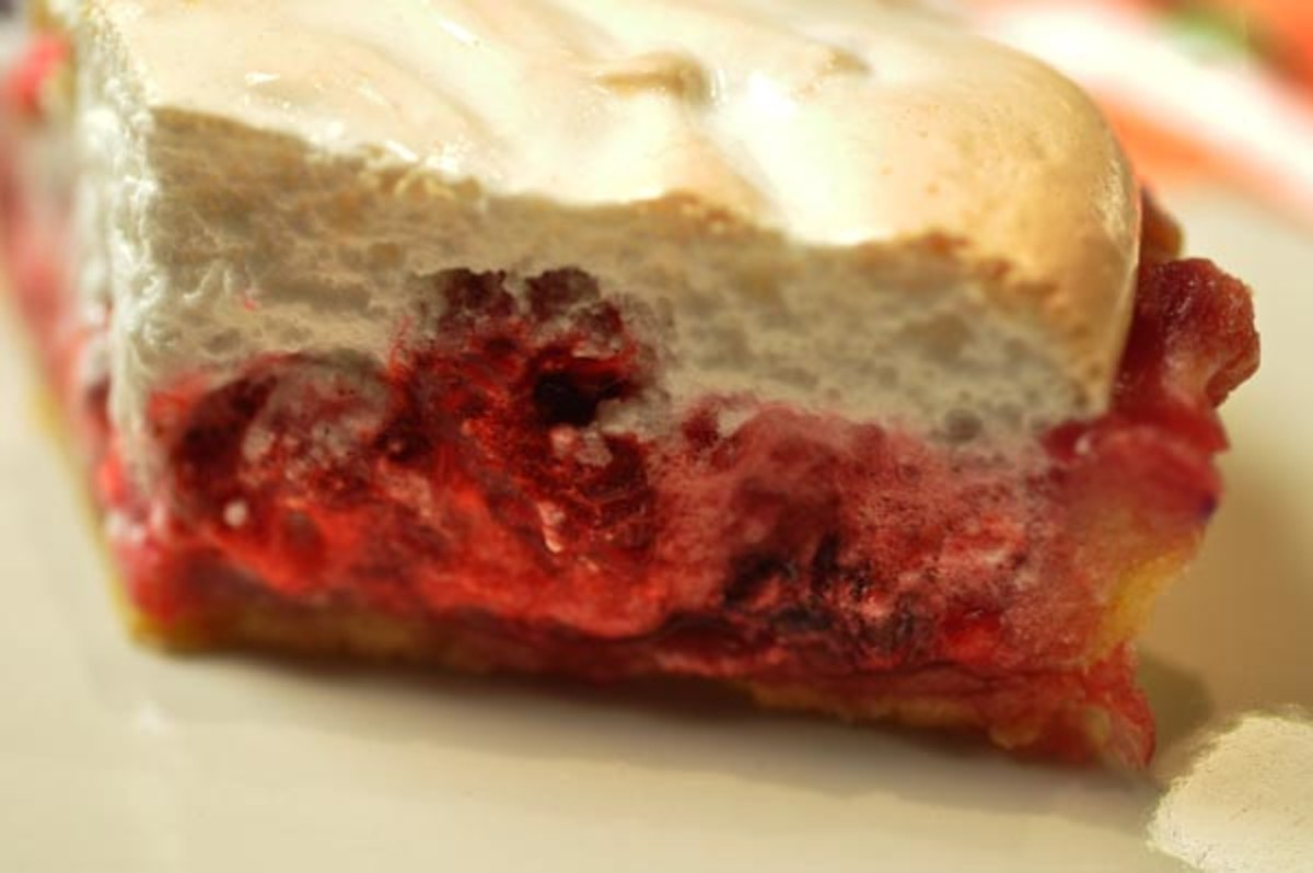 Berry Meringue Tart (close up). Image:  Siu Ling Hui