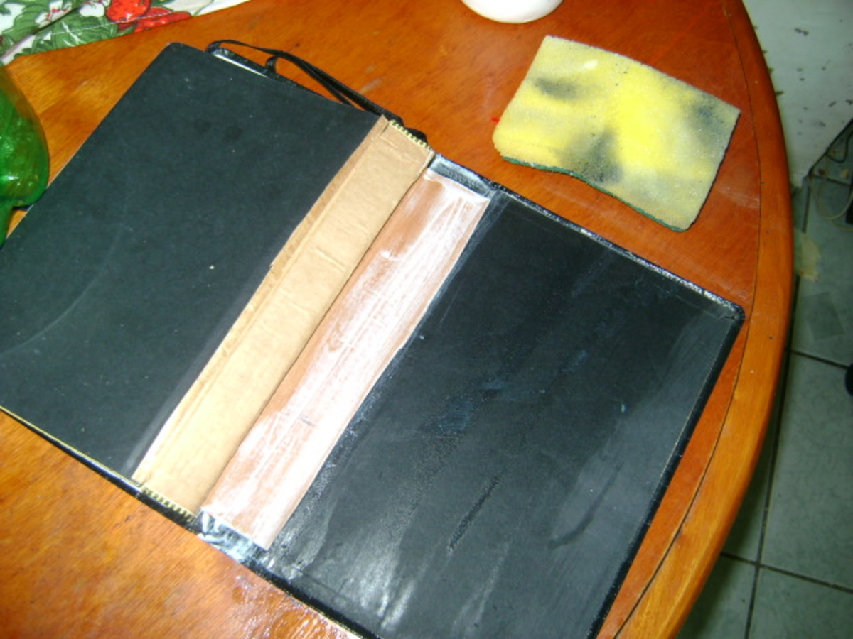 clean up with a damp sponge is easy... but not too damp... you don't want to WET your Bible now do you?