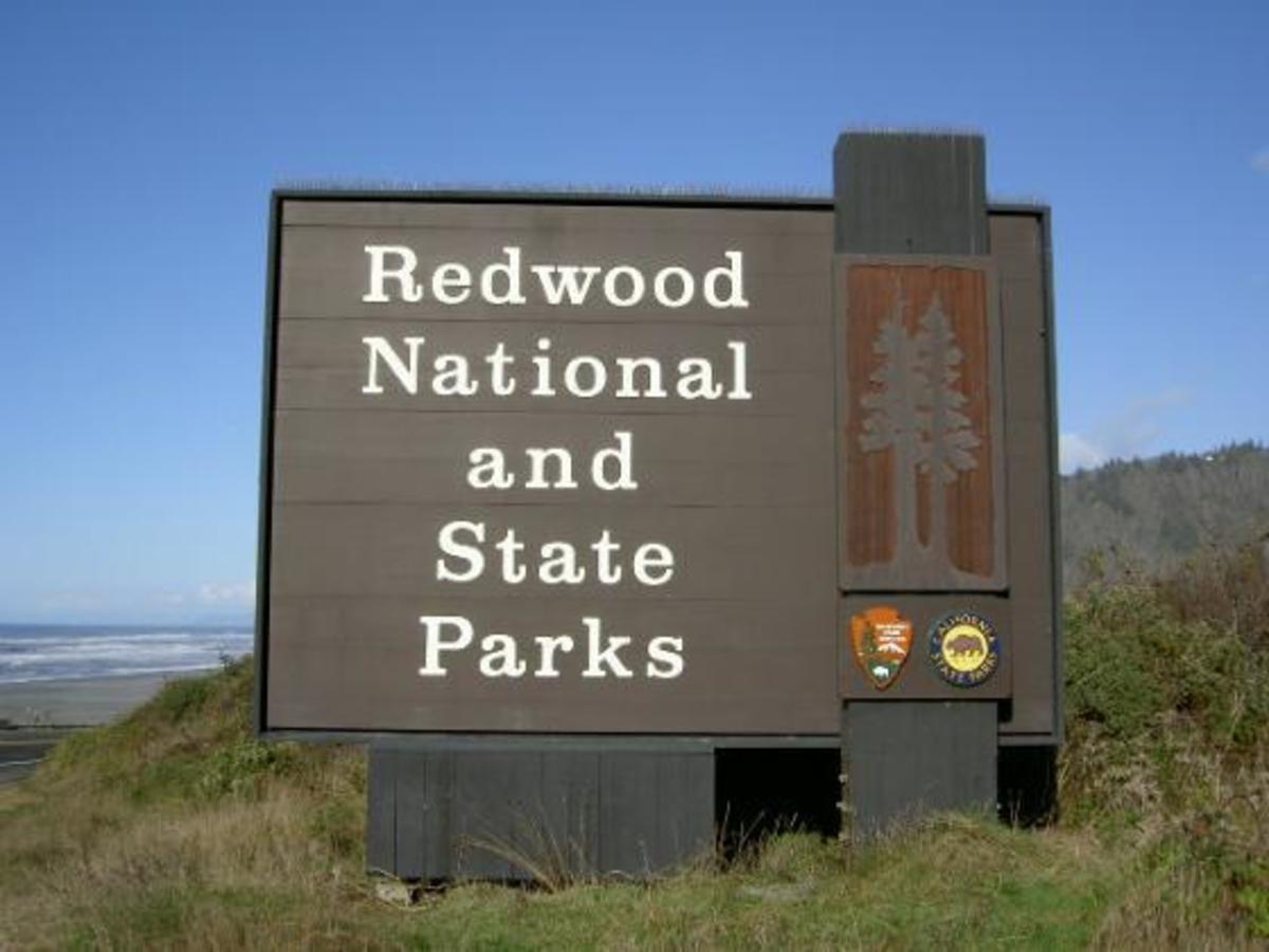 redwood state park sign