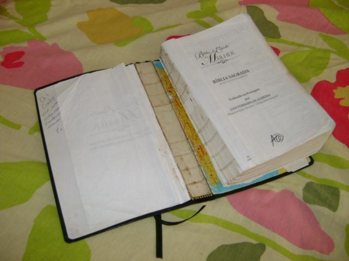 Step by step instructions on How to repair a Bible Cover or book