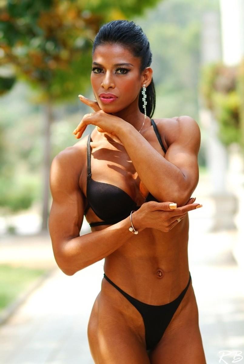 Thai bodybuilder and fitness model Roongtawan Jindasing