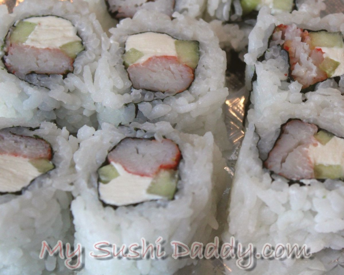 Volcano Sushi Roll Recipe with Baked Seafood Dynamite on Top