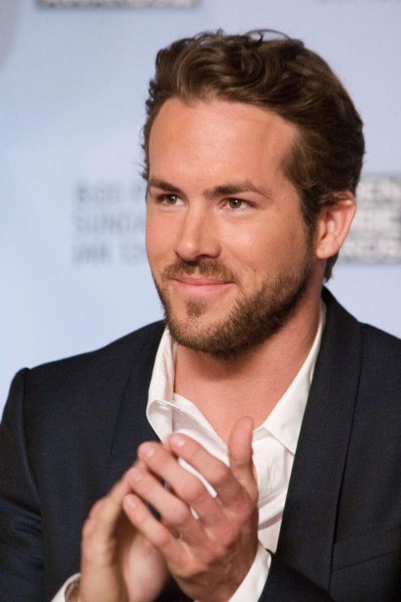 Ryan Reynolds, 36, wearing the classic front wave.  This is a very stylish trendy hair style, with soft wave. - 2013 Hairstyles for Men Short Medium Long Hair Styles Haircuts, by Rosie2010