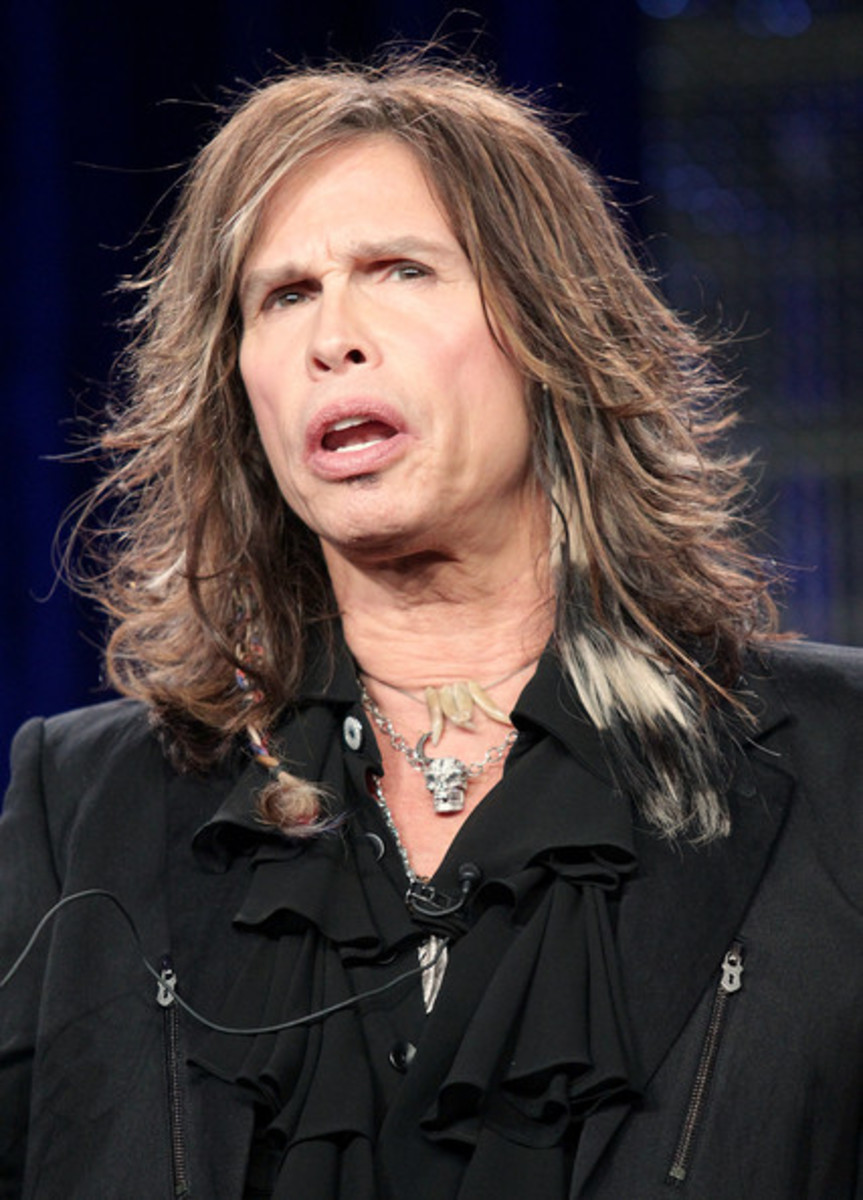 Steven Tyler, 65, legendary rocker and 2012 American idol judge.  He looks awesome! - 2013 Hairstyles for Men Short Medium Long Hair Styles Haircuts, by Rosie2010