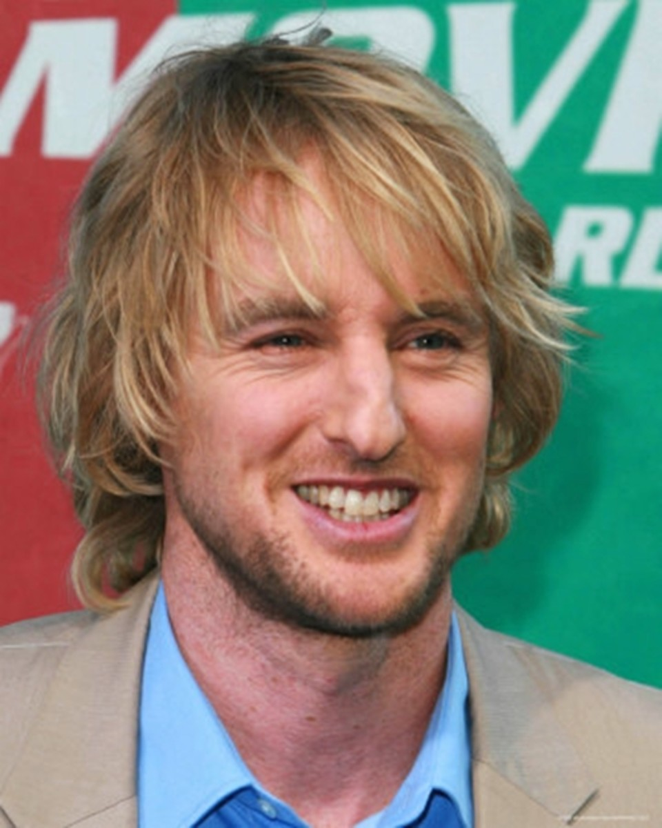 Owen Wilson, 44, wearing layered blonde long hair. - 2013 Hairstyles for Men Short Medium Long Hair Styles Haircuts, by Rosie2010