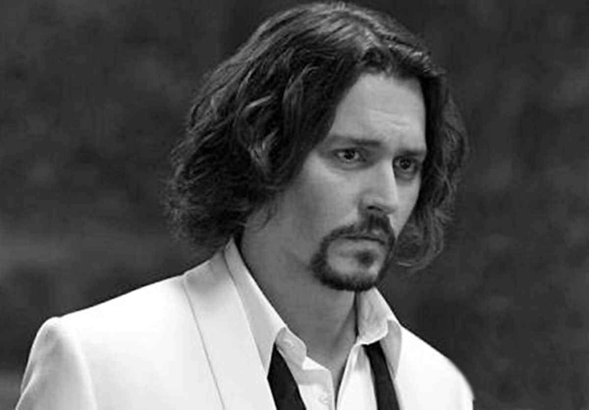 - Johnny Depp, 49 - 2013 Hairstyles for Men Short Medium Long Hair Styles Haircuts, by Rosie2010 -