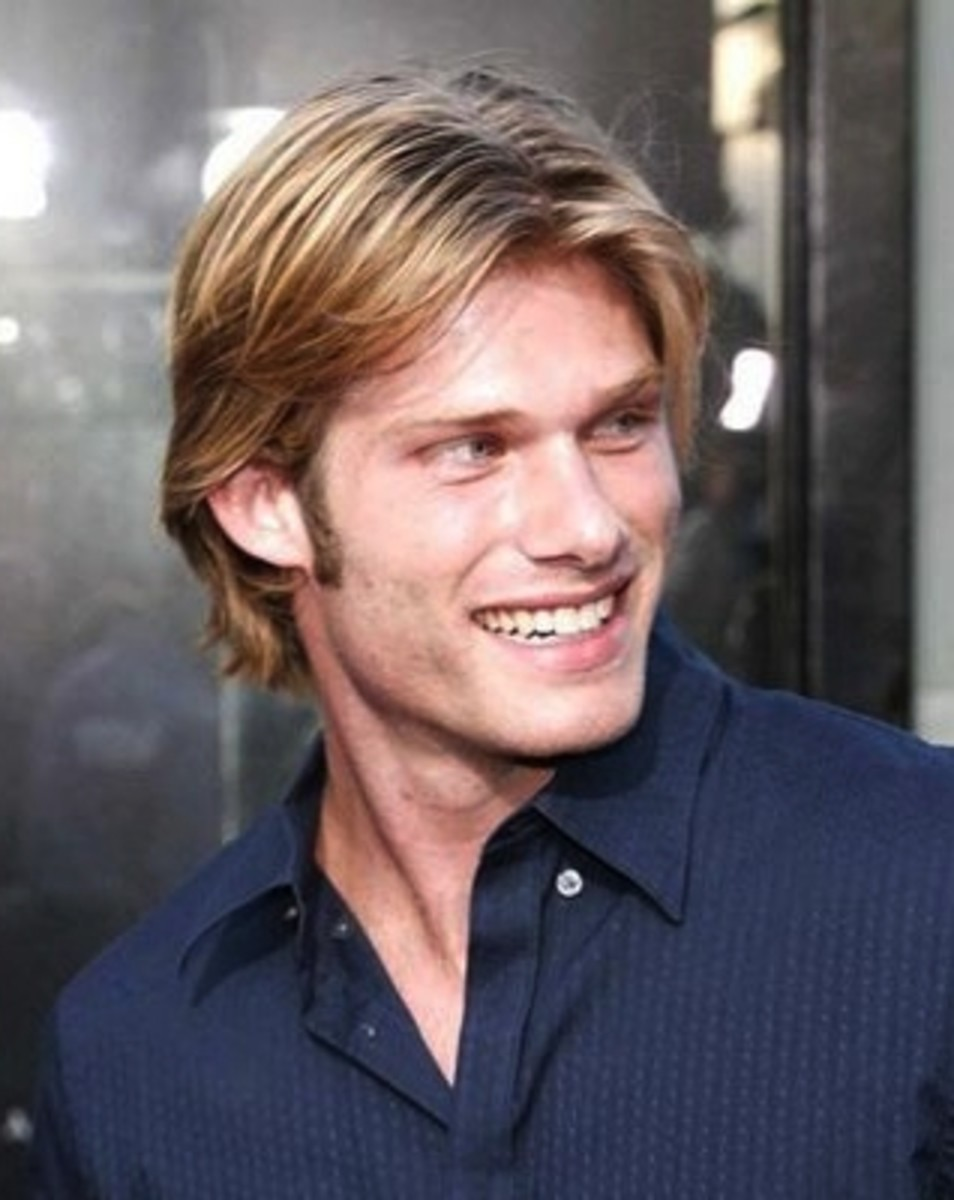 Chris Carmack, 32, wears his hair long, straight and neat. - 2013 Hairstyles for Men Short Medium Long Hair Styles Haircuts, by Rosie2010