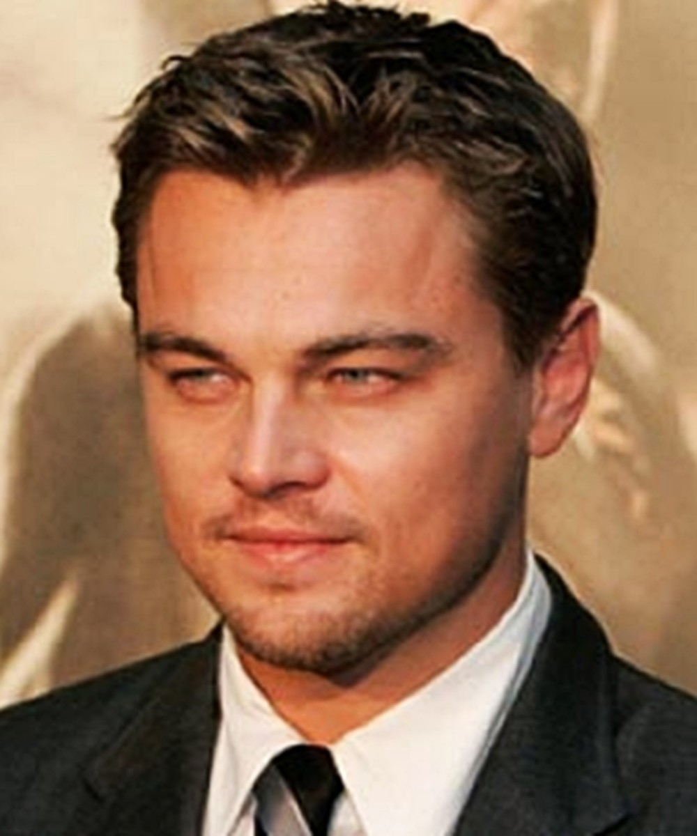 Leonardo DiCaprio, 38, looks dashing with his classic medium hair style.  The retro look suits him. - 2013 Hairstyles for Men Short Medium Long Hair Styles Haircuts, by Rosie2010