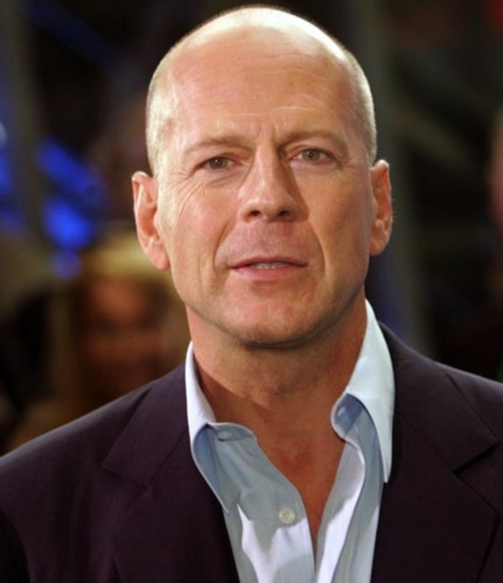 Bruce Willis, 58, wears his hair really really really short.  If you look closely, you can see the stubble.  Bald is sexy.  Minimal maintenance required. - 2013 Hairstyles for Men Short Medium Long Hair Styles Haircuts, by Rosie2010