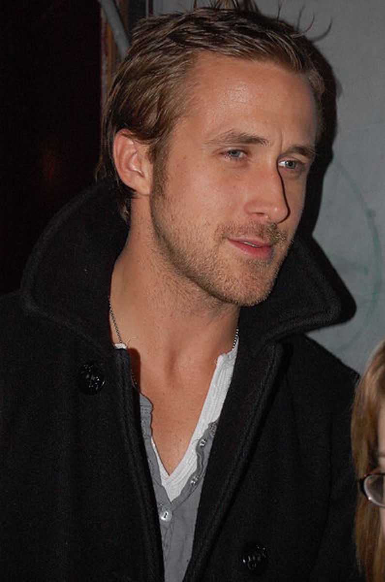 Ryan Gosling, 32, Canadian actor, star of Blue Valentine.  Ryan's hair style is low maintenance and easy to manage. - 2013 Hairstyles for Men Short Medium Long Hair Styles Haircuts, by Rosie2010