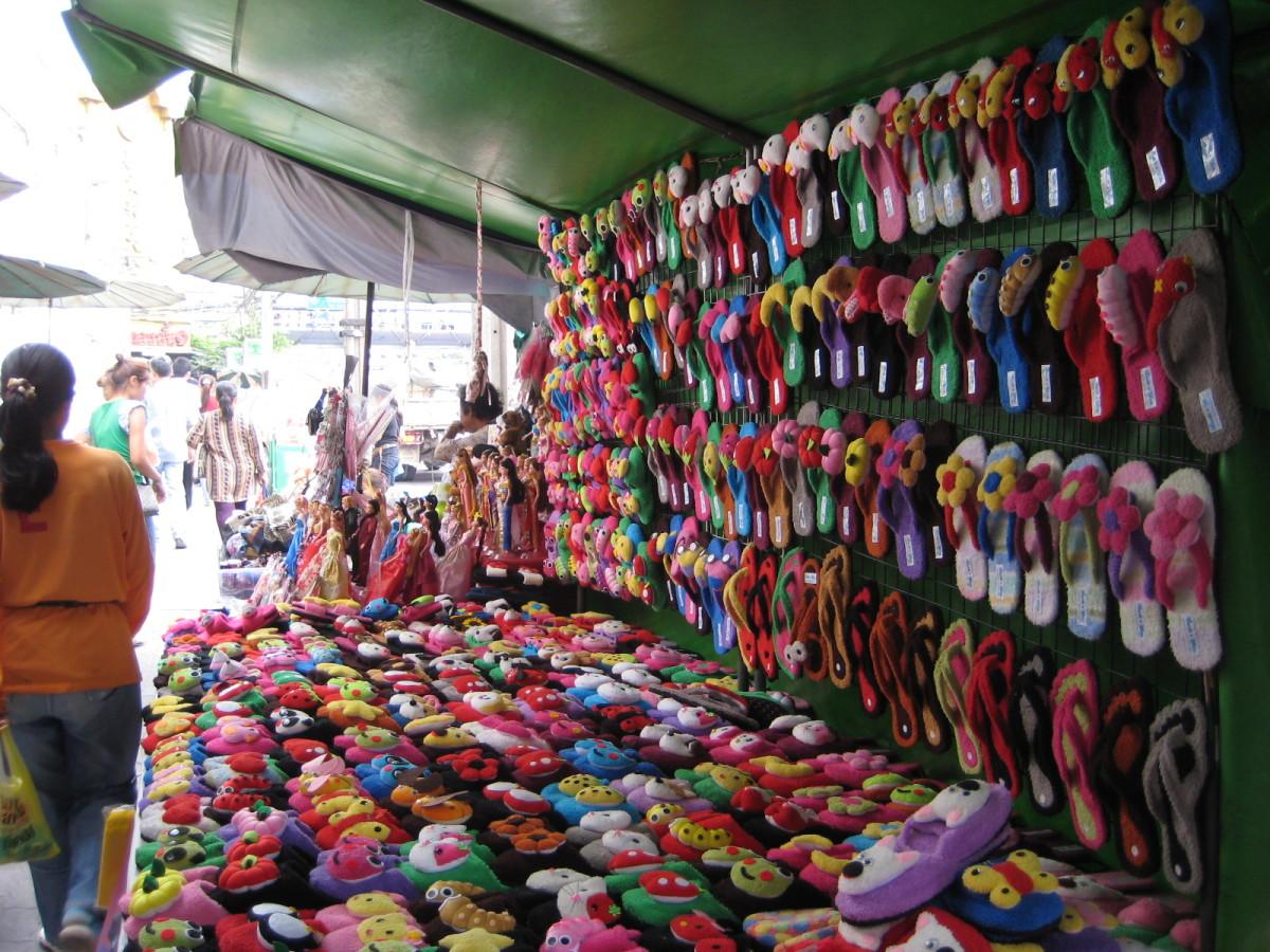 Shopping in Pratunam Market Bangkok Thailand